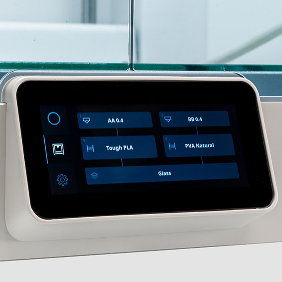 Ultimaker S5 3D-printer touchscreen